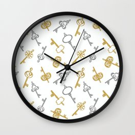 Keys of Fortune Wall Clock