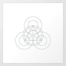 #342 Triple-eyed – Geometry Daily Art Print