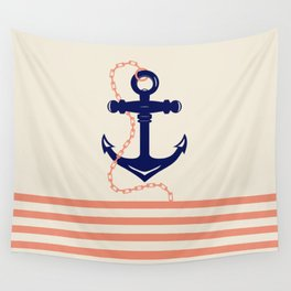 AFE Navy Anchor and Chain Wall Tapestry