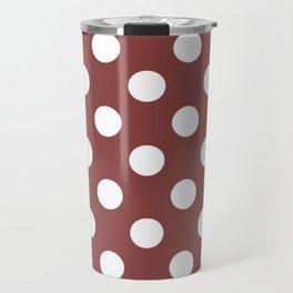 Brandy - violet - White Polka Dots - Pois Pattern Travel Mug