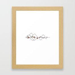 #413 Sunken city – Geometry Daily Framed Art Print