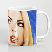 bad wolf Mugs featuring Bad Wolf by Regenerated Arts