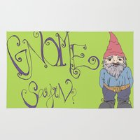 gnome Area & Throw Rugs featuring Gnome Sayin?  by Aubree Eisenwinter