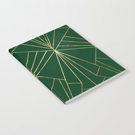 Art Deco in Gold & Green - Large Scale Notebook