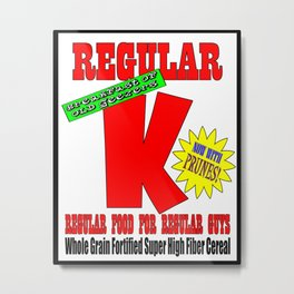 regular k Metal Print