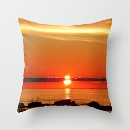 Sunset in a Northern Paradise Throw Pillow