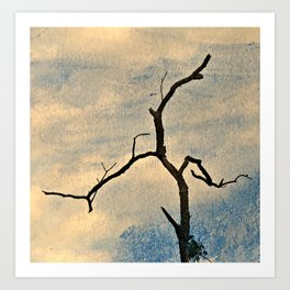 Crooked tree & Blue Skies Art Print