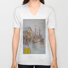 Lonely Seabird Unisex V-Neck