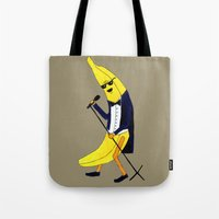 banana Tote Bags featuring Banana by Anna Shell