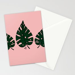 Peach Monstera Stationery Cards