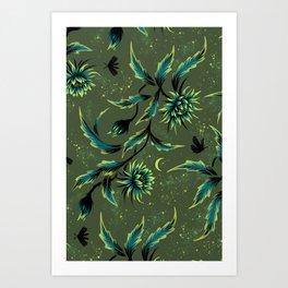 Queen of the Night - Green Art Print
