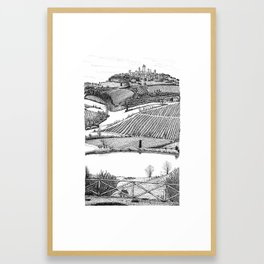 A View of San Gimignano Framed Art Print