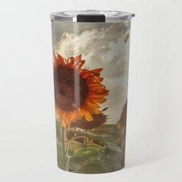 Golden Sunflower Sunsets Travel Mug