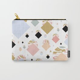 Geometric Pastel Marble Carry-All Pouch
