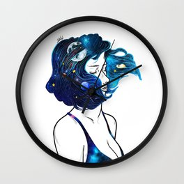 blowing  universe mind. Wall Clock