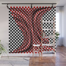 black white red 4 Wall Mural