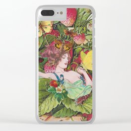 Strawberry Fields Forever Clear iPhone Case