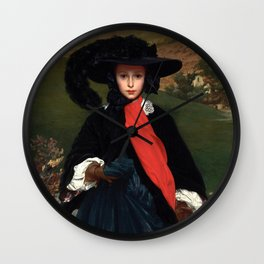 "Frederic Leighton ""Portrait of May Sartoris"" Wall Clock"