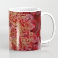 asian Mugs featuring Techno Asian by DesignsByMarly