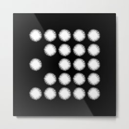 White Fuzz (Abstract, black and white minimalism) Metal Print