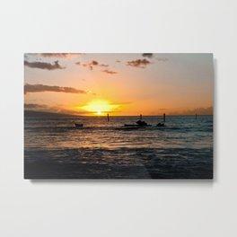 Luau at sunset Metal Print