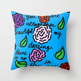 Floral Song of Solomon 4:7 Throw Pillow