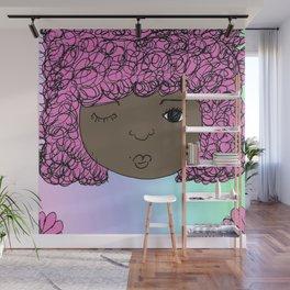 Fro Girl Wall Mural