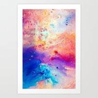 cosmos Art Prints featuring Cosmos by Kimsey Price