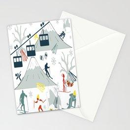 SKI LIFTS Stationery Cards