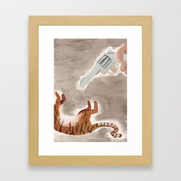 Man-Eating Tiger Framed Art Print