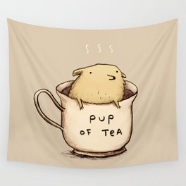 Pup of Tea Wall Tapestry
