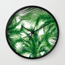 Coconut leaves Wall Clock