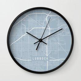 Lubbock Map, USA - Slate Wall Clock