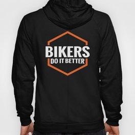 BIKERS DO IT BETTER ORANGE SQUARE Hoody