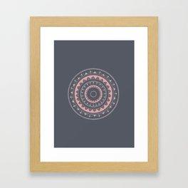 Pink mandala for self care Framed Art Print
