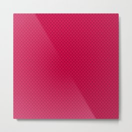 Ruby Red Scales Pattern Metal Print
