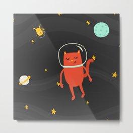 Astronaut Cat Metal Print