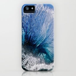 Blue Flare 2 iPhone Case