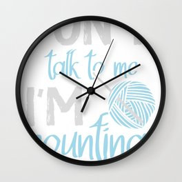 Knitting Crochet Quilting Sewing Gift Funny Wall Clock