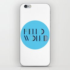 Hello World | Comp Sci Series iPhone & iPod Skin