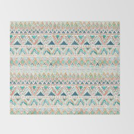 BALLIN' TRIBAL Boho Summer Geometric Throw Blanket