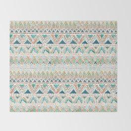 BALLIN' TRIBAL Boho Summer Geometric Throw Blanket