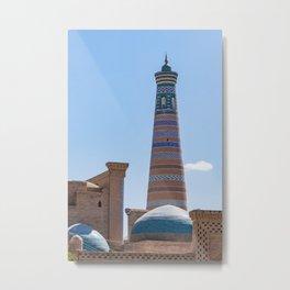 Islam Khodja Minaret - Khiva Metal Print