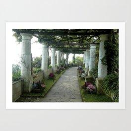 Garden Walk Art Print