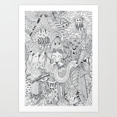 Monsters In My Closet Art Print