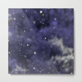 Holidaze Purple with SnowFlakes by CheyAnne Sexton Metal Print