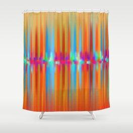 Seismic Shift Fiery Clouds Shower Curtain