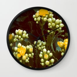 Blooms of Daylight Wall Clock
