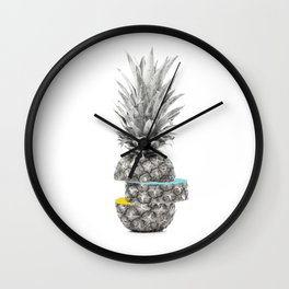 PIECE OF PINEAPPLE Wall Clock