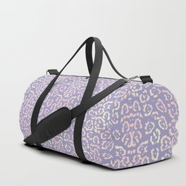 Lavender Purple Cat Print Animal Pattern with a Blush of Pink Duffle Bag